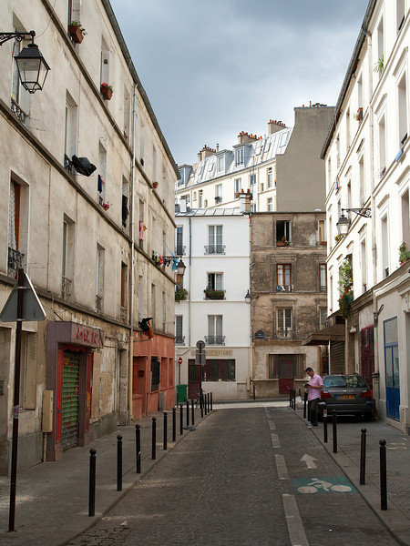 A street in Belleville, Paris.
