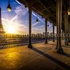 Sunrise on Eiffel Tower