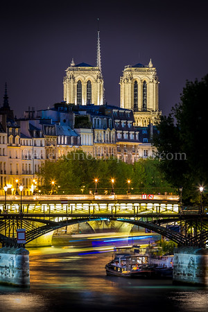 Blue Hour on the Arts bridge in Paris