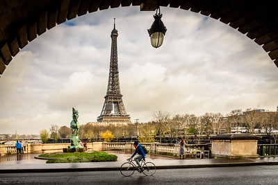View of Eiffel Tower from pont de Bir-Hakeim.