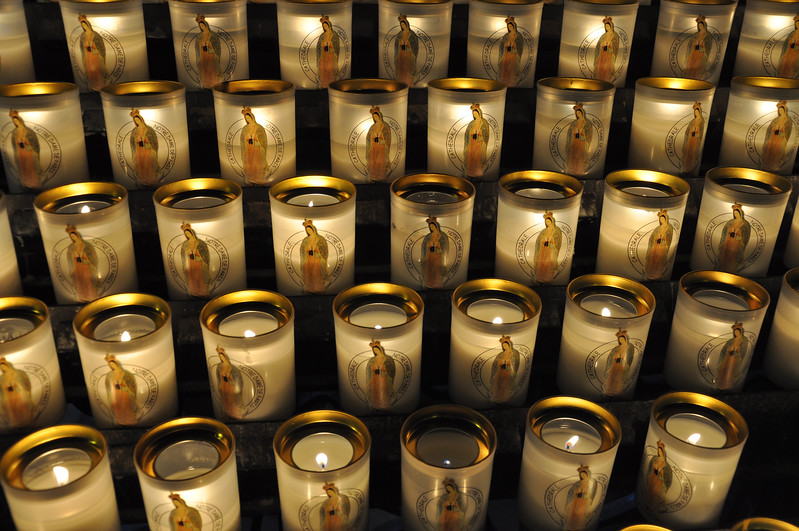 Votive Candles in Cathédrale Notre-Dame de Paris. 2016.