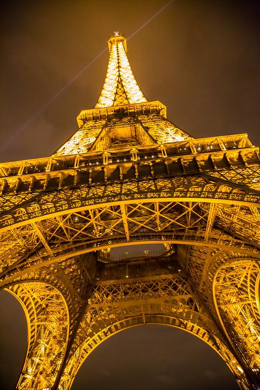 Below the Eiffel Tower