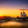 Sunset on Notre Dame at Paris ...