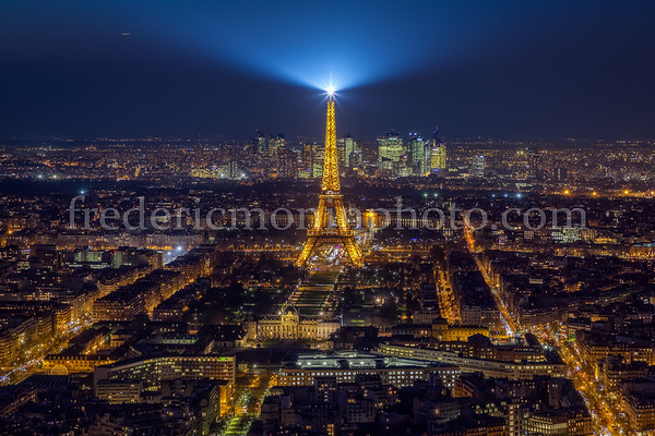 Paris view from the Montparnasse Tower