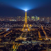 Paris by night view from the Montparnasse Tower