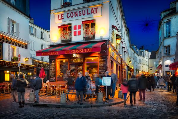 Montmartre district at the Blue Hour in Paris