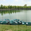 Lake and rowboats at Chateau de Fountainbleu
