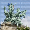 Horses And Chariot Statue On The Grand Palais Roof