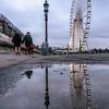Reflection of the Big Wheel at Place de la Concorde.