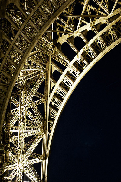Eiffel at Night Under