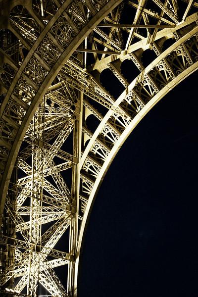 Eiffel at Night Under