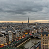 Paris skyline.