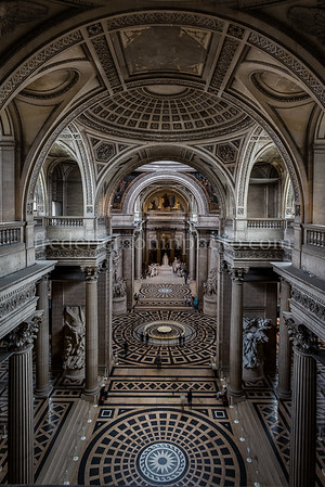 Inside of the Panthéon at Paris