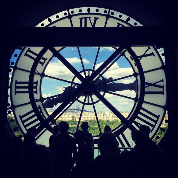 The Musée d'Orsay clock. 2016.