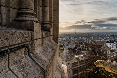 View of Paris skyline from Sacre-Coeur de Montmartre.