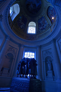 Blue stained glass in Napoleon's tomb