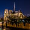 Notre-Dame de Paris by night in B/W