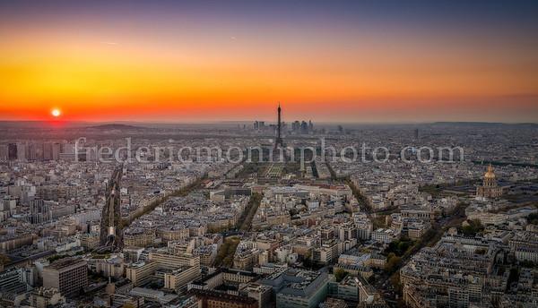 Sunset on Paris ...