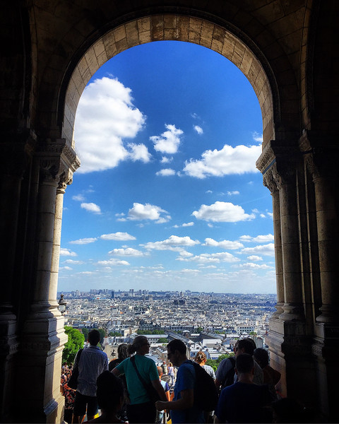 Paris from the Sacré-Cœur in Montmartre. 2016.