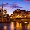 Blue Hour on Cathedral Notre Dame of Paris