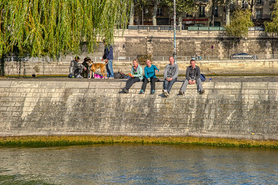 Sitting on the Bank of the Seine