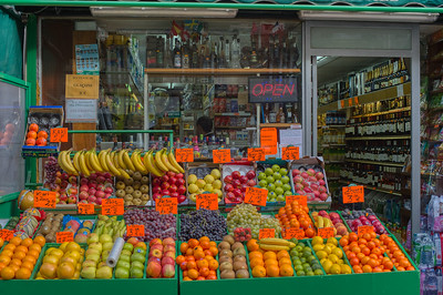 Sidewalk Fruit Stand