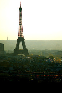 Eiffel Tower in late day light