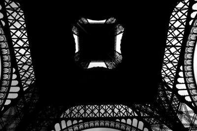 Paris_Eiffel_Tower_Bottom-Up_B&W_RAW7196