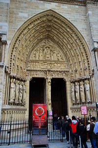 Entrance door to the cathedral for tourists