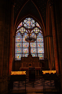 Side stained glass window