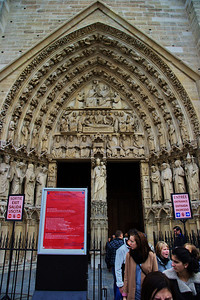 Portal of the Virgin or exit door for tourists