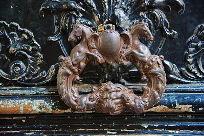 This is the most elaborate and largest door knocker I saw in Paris.
