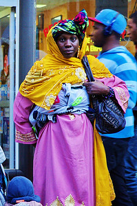 African Woman on Paris Street
