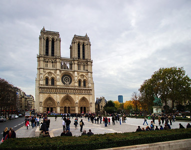Notre Dame on a Cloudy Day