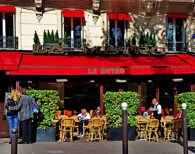 If there is one thing you see all over Paris it is cafes.  They are a pleasant stop during a day of sight seeing for a cup of coffee or light lunch.