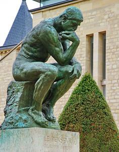 Rodin's famous, The Thinker (LE PENSEUR, Fr.)