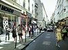 Crowd, Rue de Francs Bourgeois, Paris, France