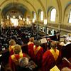 Bishop Matthew H. Clark celebrates first communion and beatification of Pope John Paul II on Divine Mercy Sunday at Rochester's St. Stanislaus Kostka Church.