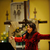 Catholic contemporary recording artist Donna Cori Gibson performs on Divine Mercy Sunday at St. Michael Church in Newark.