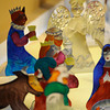 Creche display at Rochester's Sacred Heart Cathedral, courtesy of Janet Archibald.