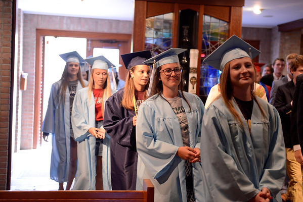 "St. Louis School is inviting high school seniors living in Pittsford, who attended St. Louis School for elementary school to attend St. Louis's last prayer service of the school year. This is a tradition for Pittsford Mendon and Sutherland High School seniors to go back to their elementary school before their high school graduation and this is the first time St. Louis is trying to get involved in this tradition. <br /> <br /> The high school seniors are being asked to wear their caps and gowns with their college t-shirt underneath. They will process down the aisle and join the fifth grade students from St. Louis on the altar for a special blessing by Fr. Juan. They will also show off their college t-shirts and join in the singing of St. Louis's traditional graduation song, ""This Little Light of Mine."""