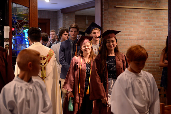 """St. Louis School is inviting high school seniors living in Pittsford, who attended St. Louis School for elementary school to attend St. Louis's last prayer service of the school year. This is a tradition for Pittsford Mendon and Sutherland High School seniors to go back to their elementary school before their high school graduation and this is the first time St. Louis is trying to get involved in this tradition. <br /> <br /> The high school seniors are being asked to wear their caps and gowns with their college t-shirt underneath. They will process down the aisle and join the fifth grade students from St. Louis on the altar for a special blessing by Fr. Juan. They will also show off their college t-shirts and join in the singing of St. Louis's traditional graduation song, """"This Little Light of Mine."""""""