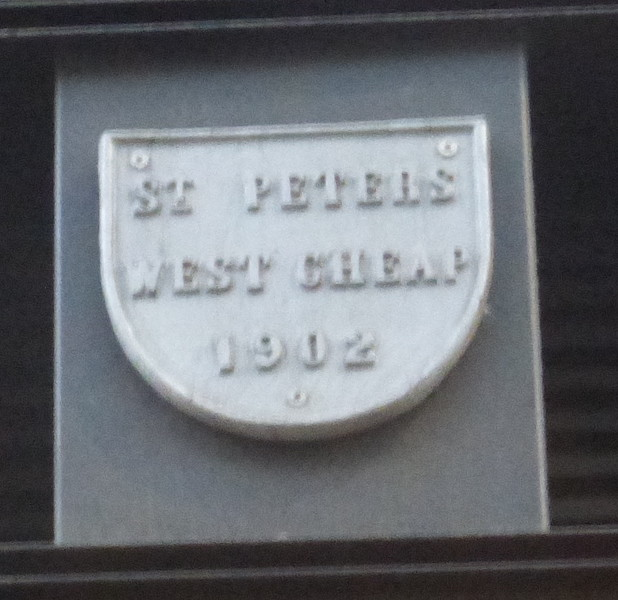St Peter Cheap - Cheapside s side