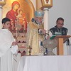 Rev. Fr. Tateos Abdalian performed the Blessing of Water ceremony at St. Garabed Church in Baton Rouge, LA. Narek Moutafian served as the godfather of the cross.
