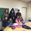 Archbishop Khajag Barsamian visiting the Grade 3 class of Holy Trinity's Sunday School.