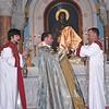 Rev. Fr. Martiros Hakobyan, Pastor of St. Kevork Armenian Church, Houston TX, guest celebrant, with Deacon James Kalustian.