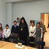 His Eminence Archbishop Khajag Barsamian visiting the Grade 5/6 class of Holy Trinity's Sunday School.