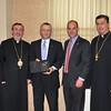His Eminence, Archbishop Khajag Barsamian, Primate, James M. Kalustian, Gregory A. Kolligian, Jr., and Fr. Vasken A. Kouzouian.