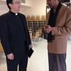 JoJo White with Fr. Vasken Kouzouian.