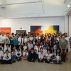 Students of the Kirikian Saturday Armenian School of St. Thomas Church of Tenafly, NJ, pose for a group photo at Gallery Bergen.